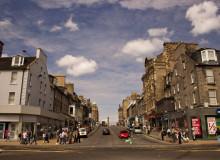 Princess street, Эдинбург, Шотландия.