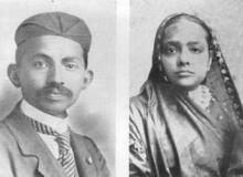 Ганди с женой. Википедия