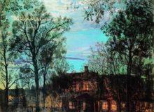 """Исаак Бродский. """"Новолуние"""", 1917 год, Холст, масло. 61 x 81 см, Частное собрание"""