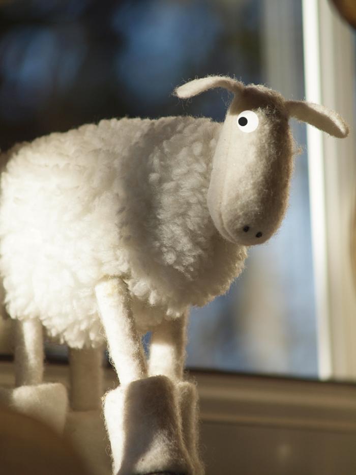 Символ года - милая белая овечка. Фото: Aoshi_88